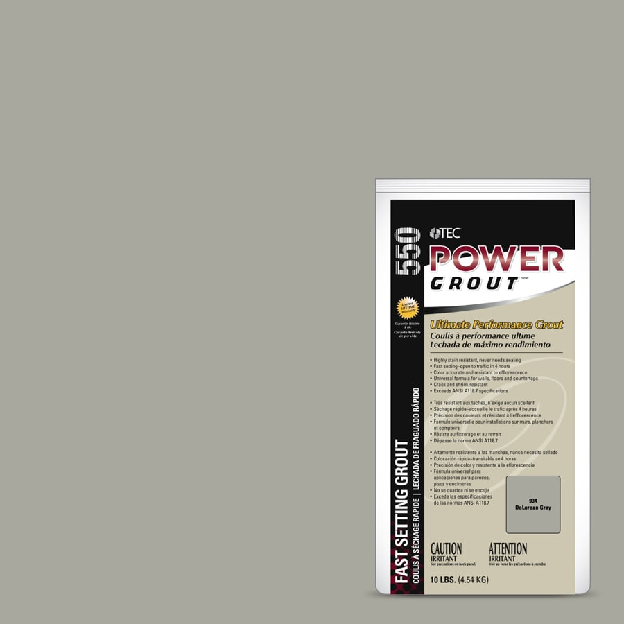 TEC Power 10-lb Delorean Gray Sanded/Unsanded Powder Grout