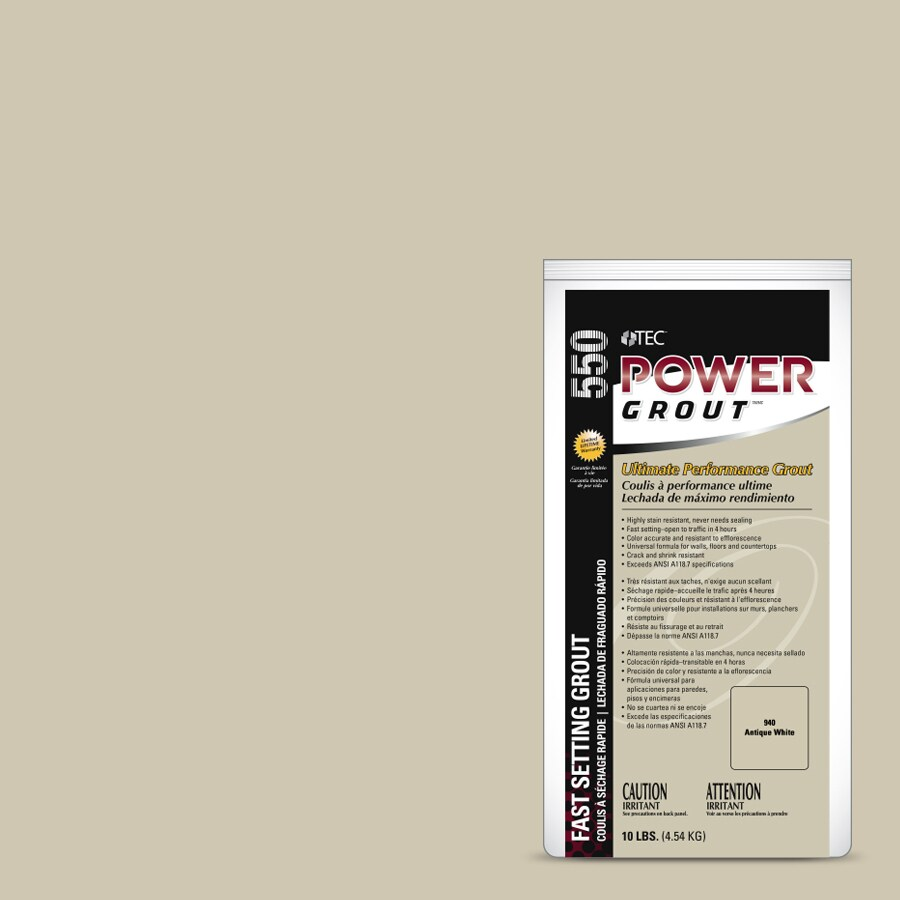TEC Power 10-lb Antique White Sanded/Unsanded Powder Grout