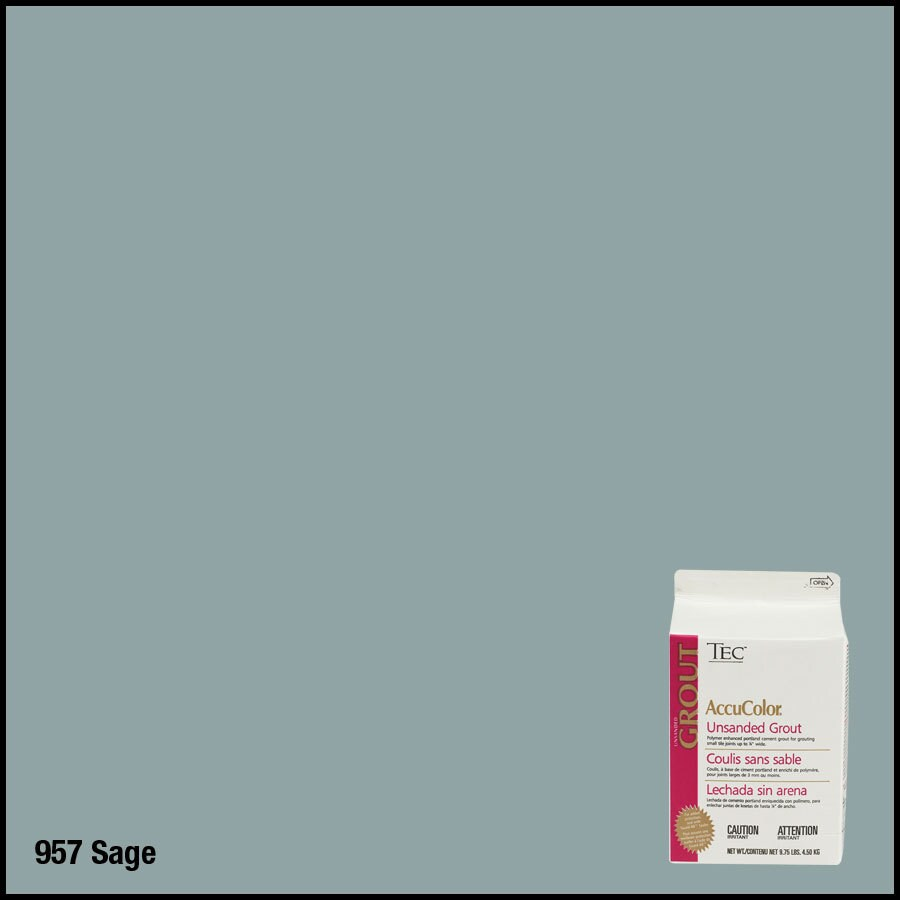 TEC 9.75 lbs Sage Unsanded Powder Grout