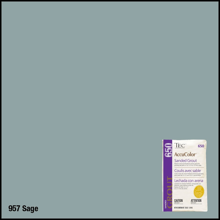 TEC 25 lbs Sage Sanded Powder Grout