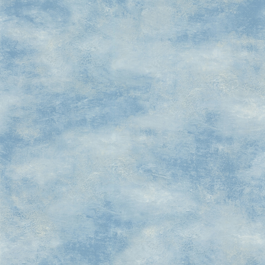Shop waverly blue peelable vinyl prepasted wallpaper at for Prepasted wallpaper