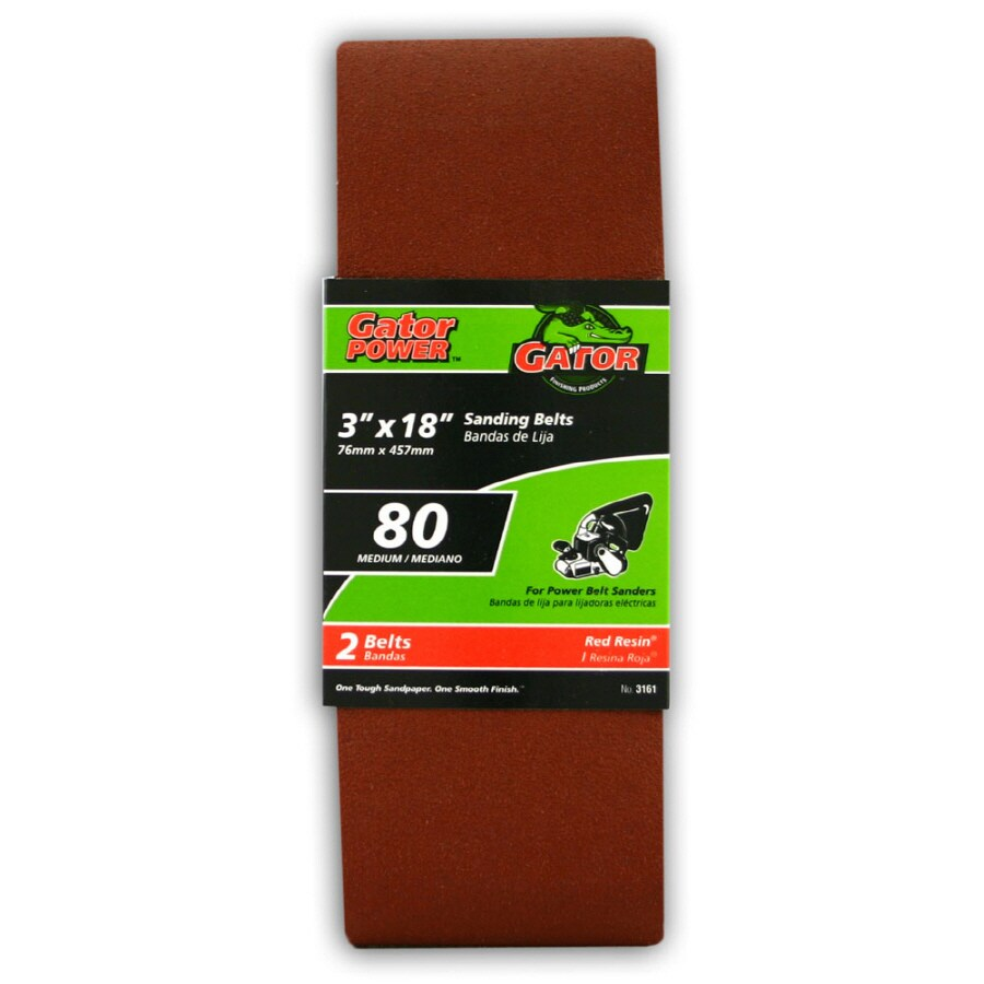 Gator 2-Pack 3-in W x 18-in L 80-Grit Commercial Sanding Belts Sandpaper