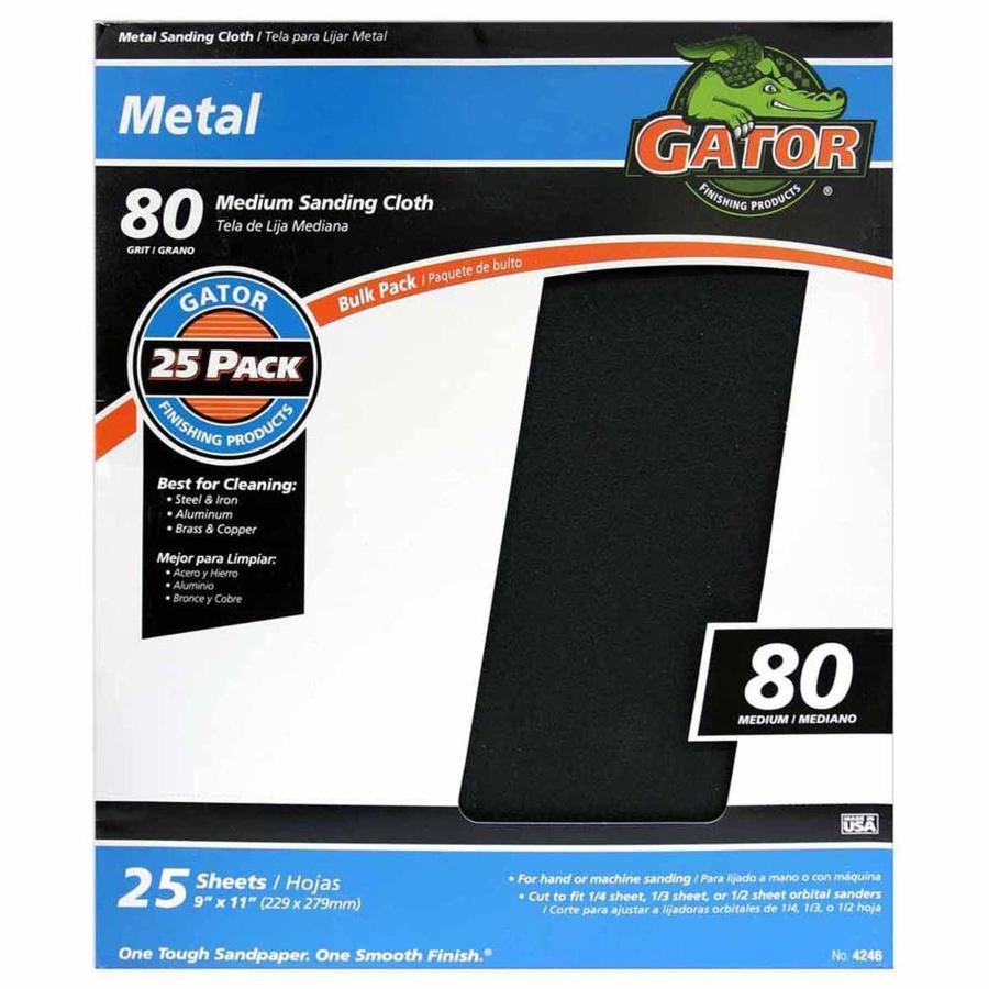 Gator 25-Pack 9-in W x 11-in L 80-Grit Commercial Sandpaper Sheets
