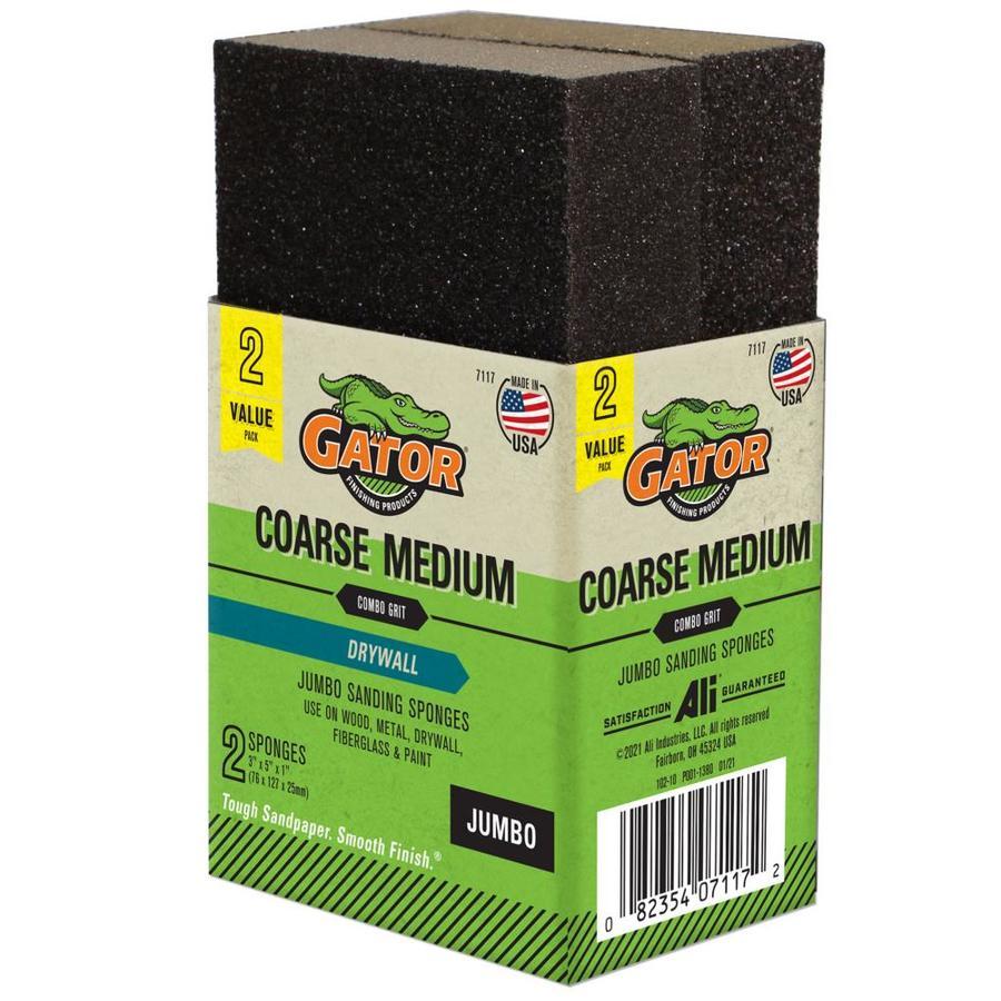 Gator 2.93-in x 1-in Multi-Grade Pack Commercial Sanding Sponge