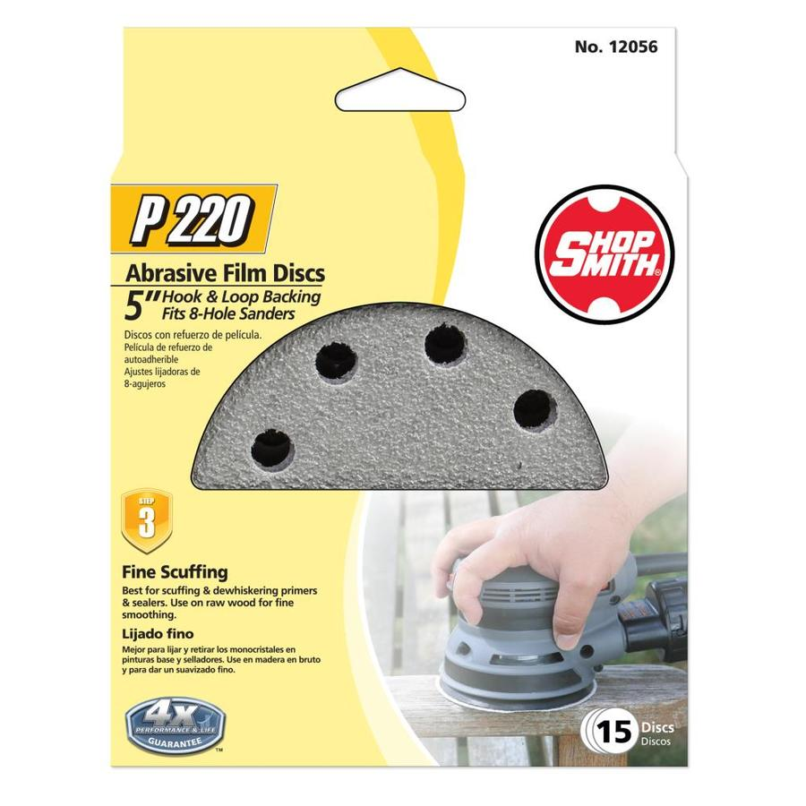 Shopsmith 15-Pack 5-in W x 5-in L 220-Grit Commercial Sanding Disc Sandpaper