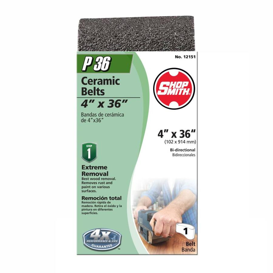Shopsmith 4-in W x 36-in L 36-Grit Commercial Sanding Belt Sandpaper