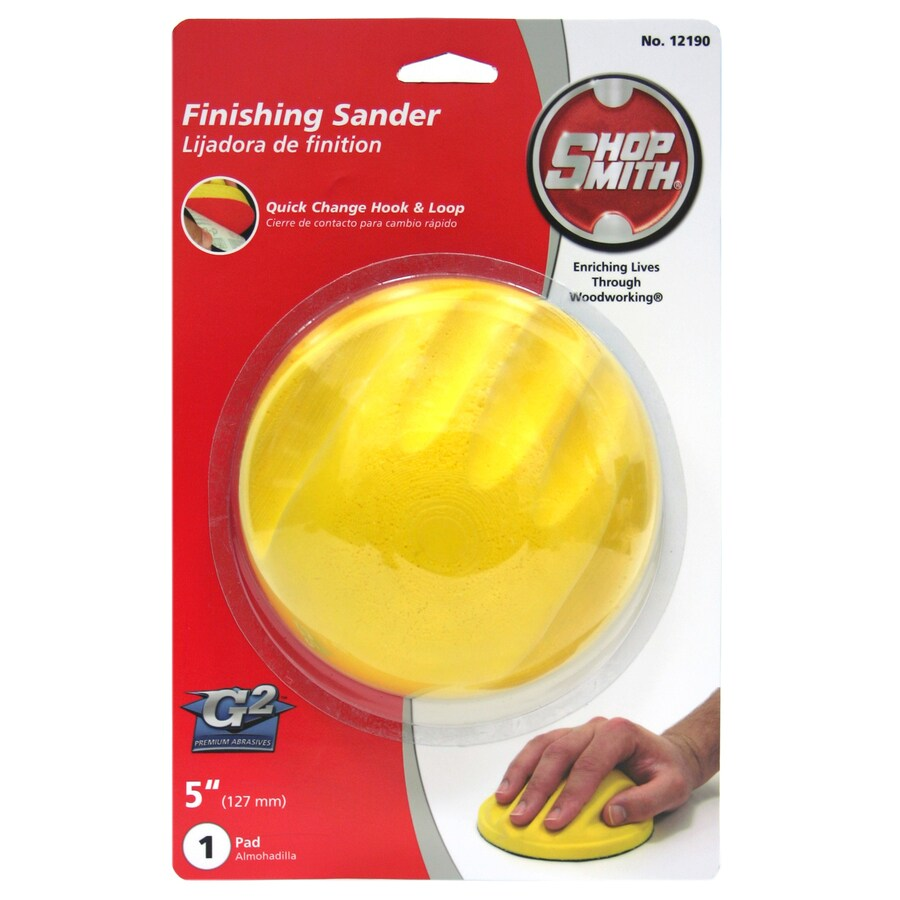 Shopsmith 5-in x 5-in 5 Hook and Loop Hand Sanding Tool Hand Sander
