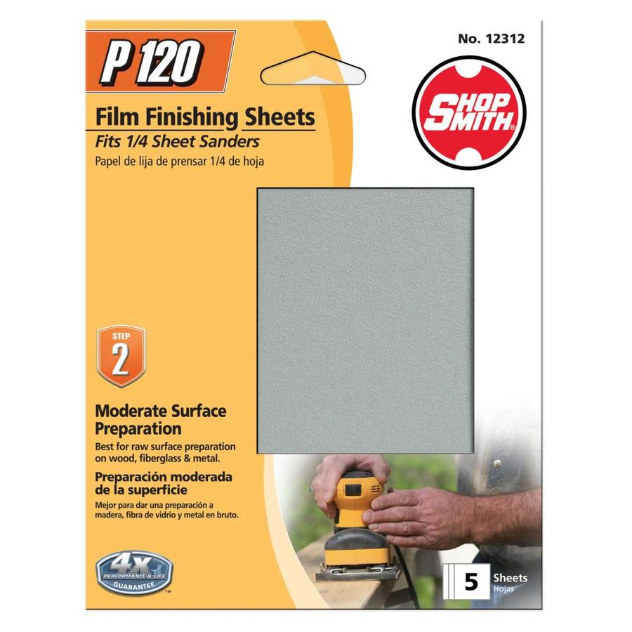 Shopsmith 5-Pack 4.5-in W x 5.5-in L 120-Grit Commercial Clamp-On Sanding Sheets