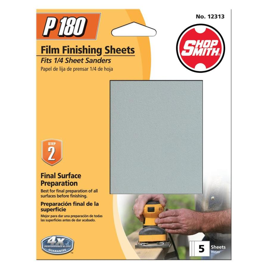Shopsmith 5-Pack 4.5-in W x 5.5-in L 180-Grit Commercial Clamp-On Sanding Sheets