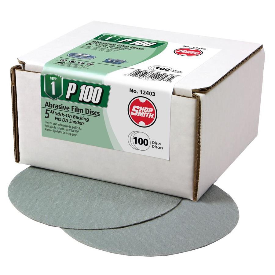 Shopsmith 100-Pack 5-in W x 5-in L 100-Grit Commercial Sanding Discs Sandpaper