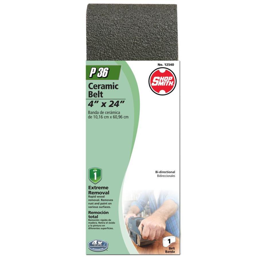 Shopsmith 4-in W x 24-in L 36-Grit Commercial Sanding Belt Sandpaper