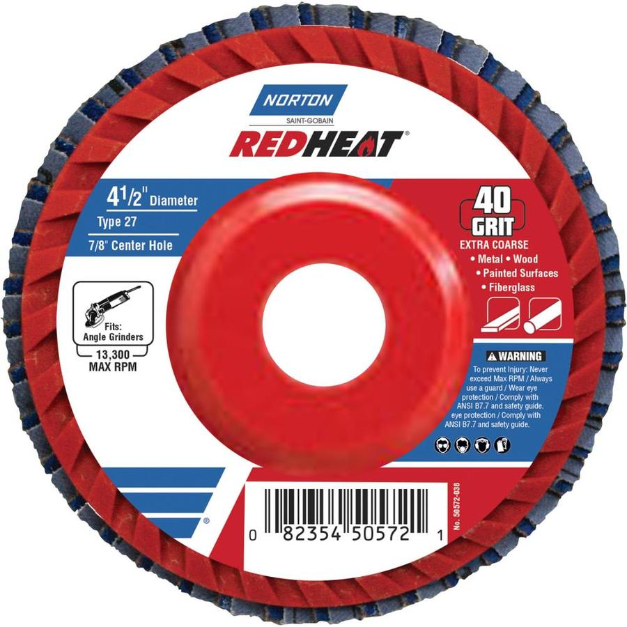 """Weldcote 4-1//2/"""" Layered Flap Disc 40 Grit CERAMIC 10668 thick style"""