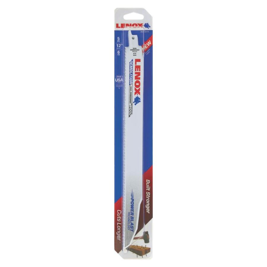 LENOX 5-Pack 12-in 6-TPI Bi-Metal Reciprocating Saw Blade Set