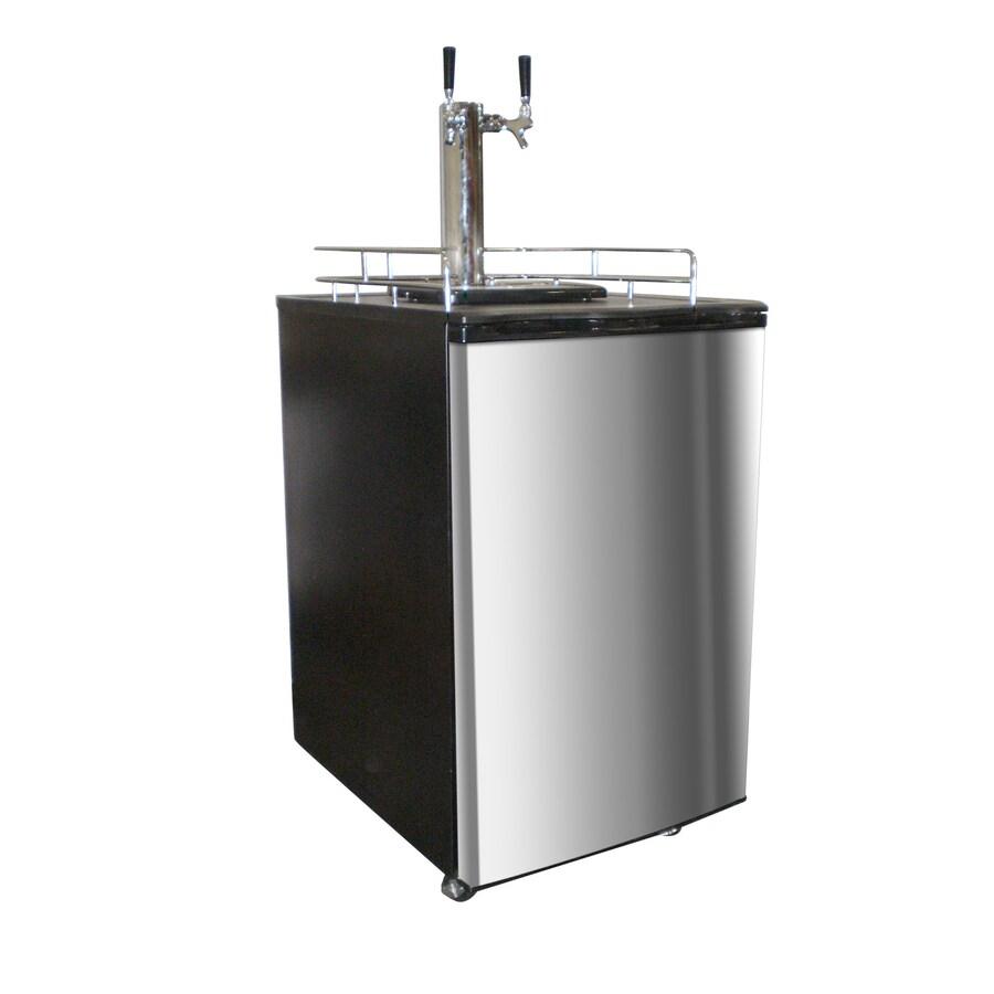 Nostalgia Electrics Half-Barrel Keg Stainless Steel Manual Freestanding Kegerator