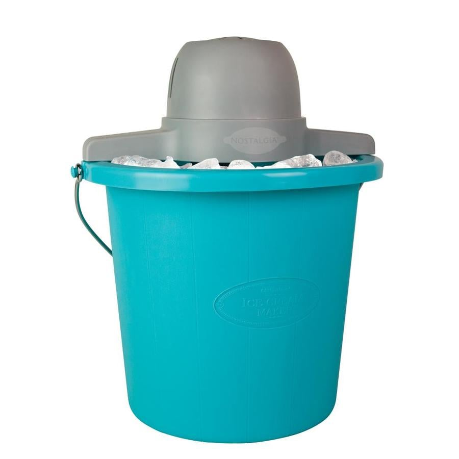 Nostalgia Electrics 4-Quart Nostalgia Blue Electric Ice Cream Maker