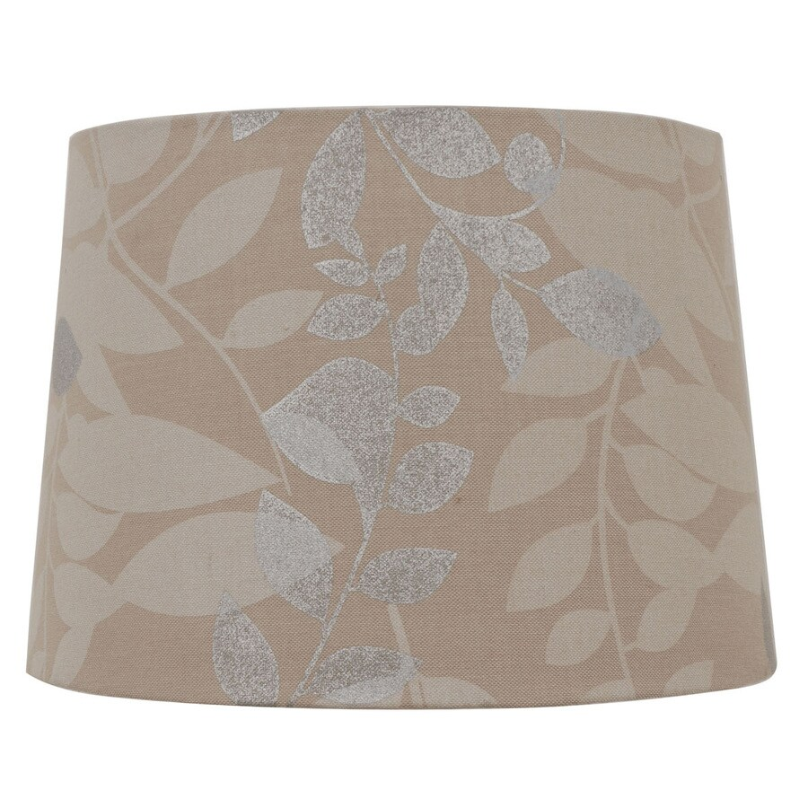allen + roth 10-in x 14-in Beige Fabric Drum Lamp Shade