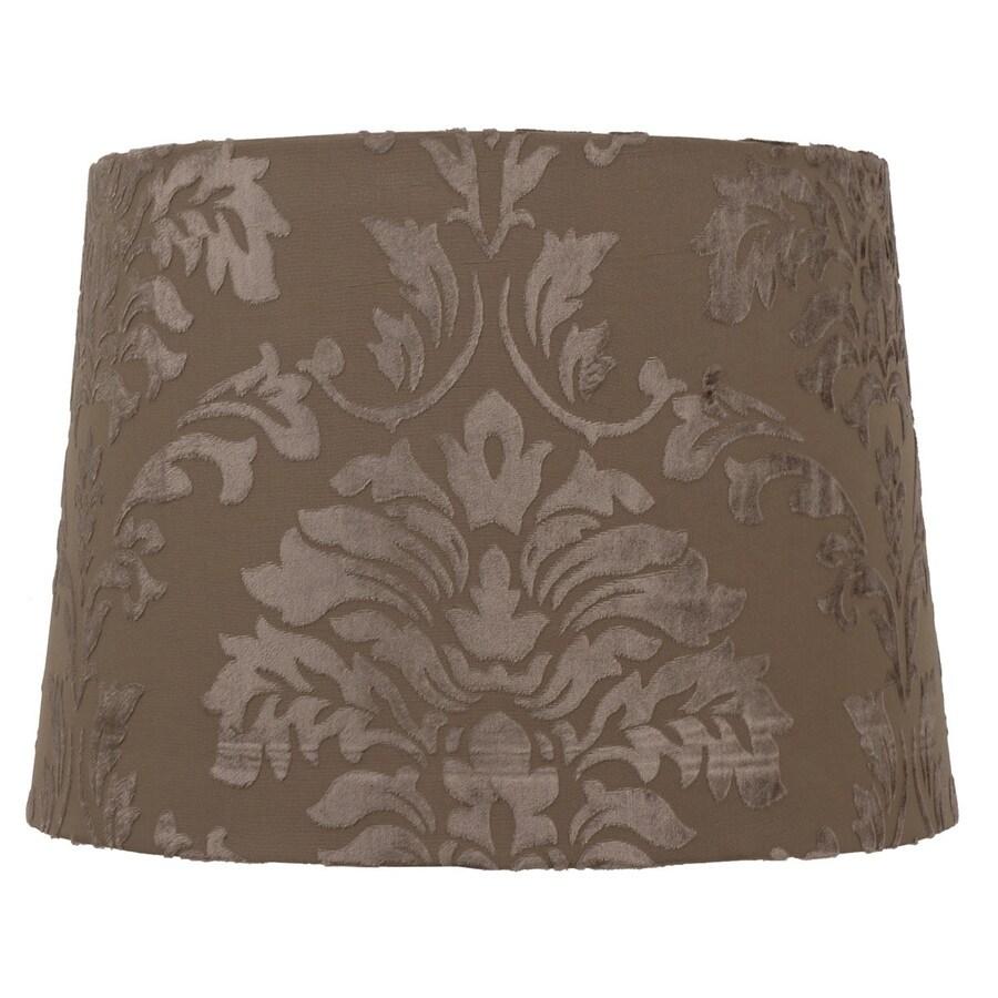 Portfolio 10-in x 14-in Taupe Drum Lamp Shade