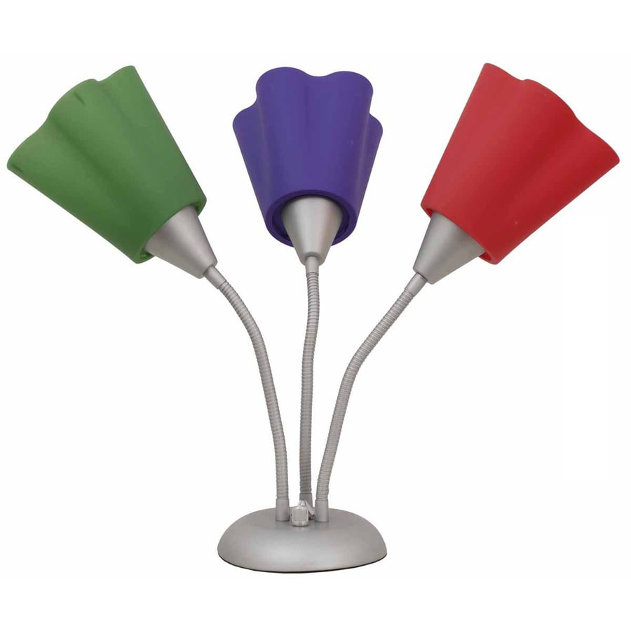 Portfolio 19.75-in Silver Indoor Table Lamp with Plastic Shade