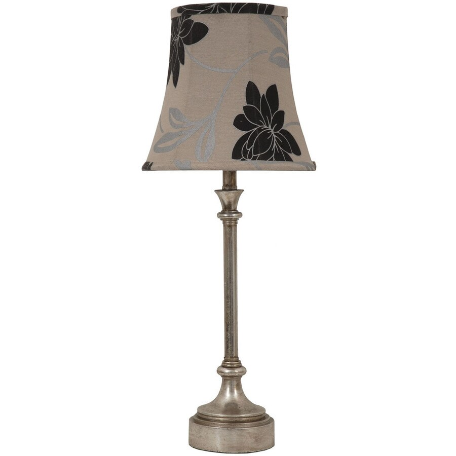 Jimco 23-in Silver Indoor Table Lamp with Fabric Shade