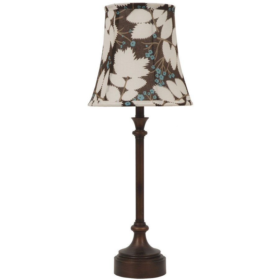 Jimco 23-in Bronze Indoor Table Lamp with Fabric Shade