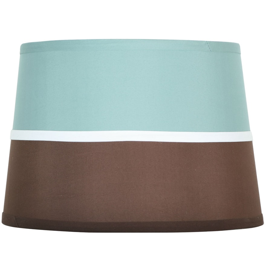 Style Selections 9-in x 13-in Blue and Brown Drum Lamp Shade