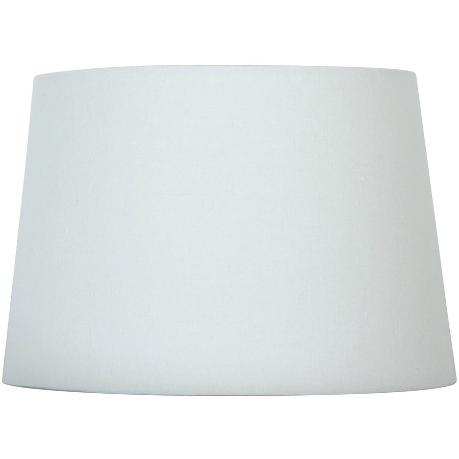 Style Selections 9-in x 13-in White Drum Lamp Shade