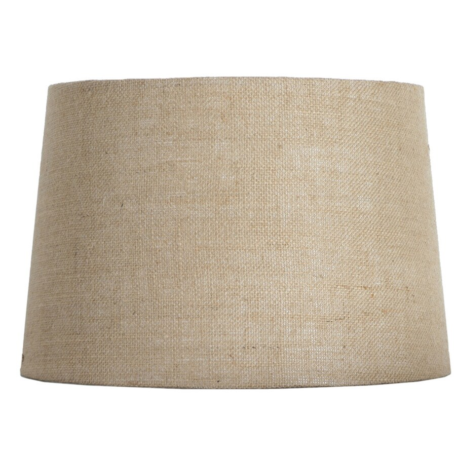 Shop allen + roth 10-in x 15-in Tan Burlap Fabric Drum ...