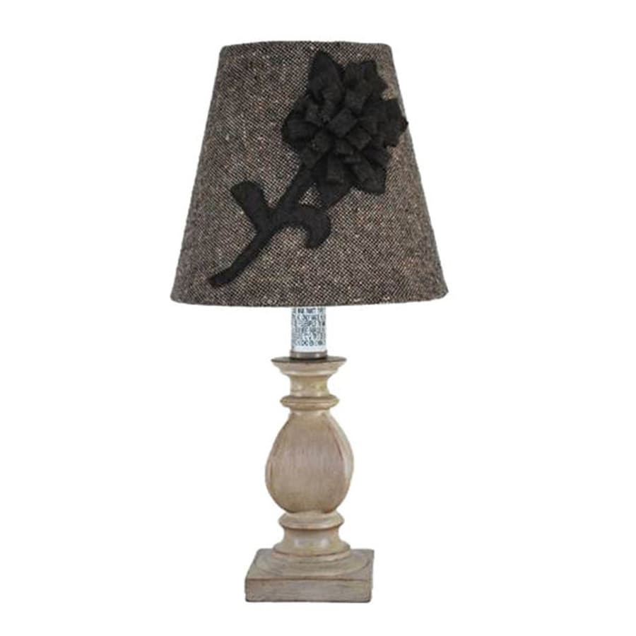 Jimco 11-in Antique Ivory Indoor Table Lamp with Fabric Shade
