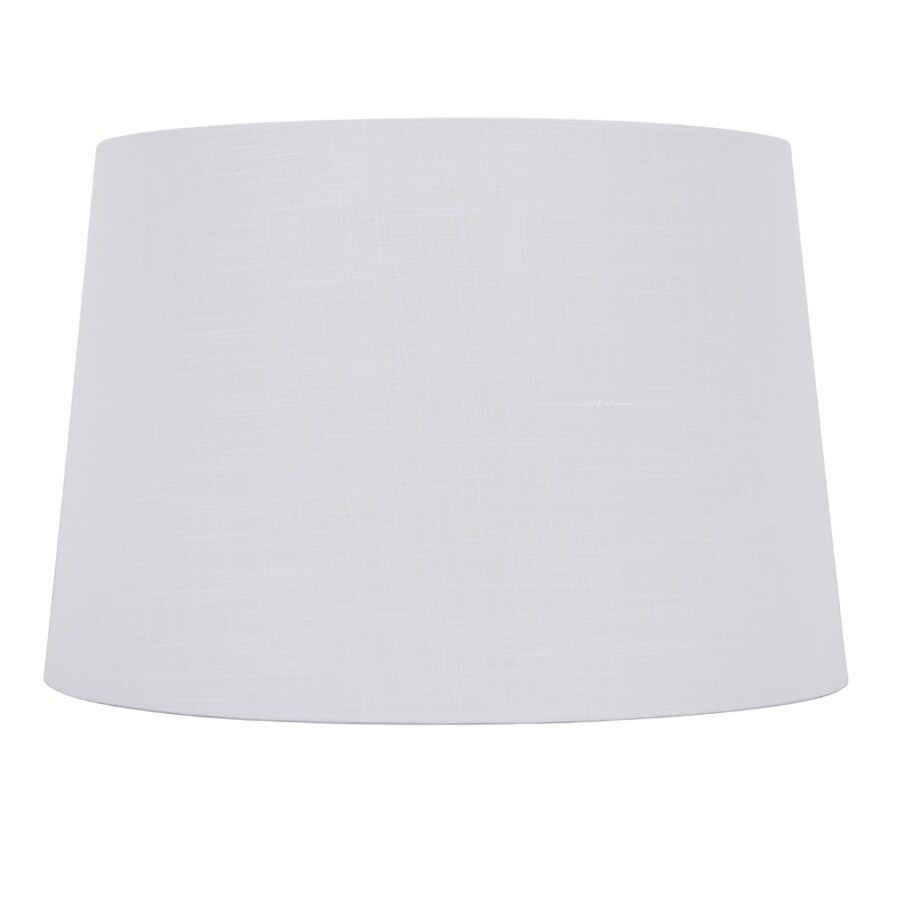 Shop Allen Roth 10 In X 15 In White Linen Fabric Drum