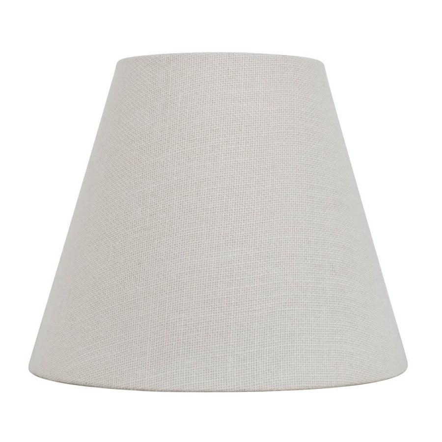 allen + roth 11-in x 13-in White Burlap Fabric Cone Lamp Shade