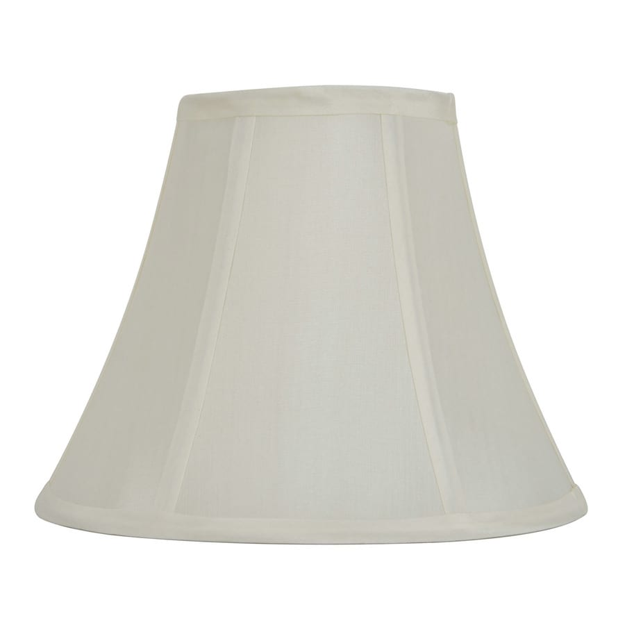 Shop Allen + Roth 8-in X 10-in Off White Fabric Bell Lamp