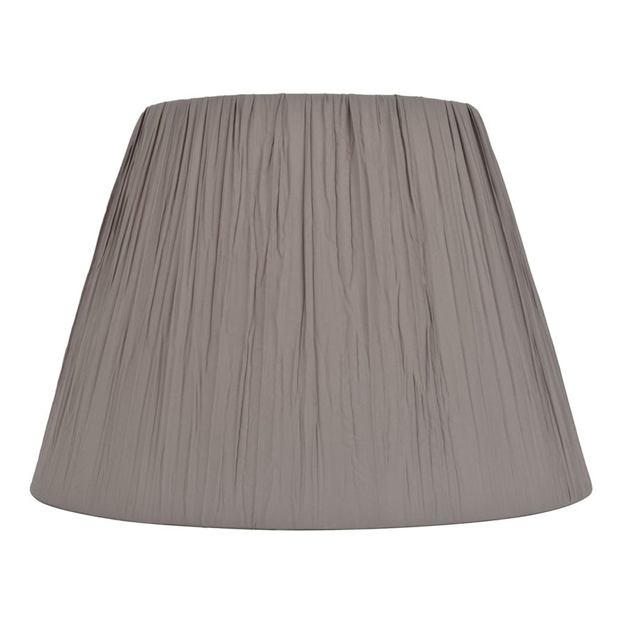 Shop Allen Roth 11 In X 15 In Gray Fabric Cone Lamp