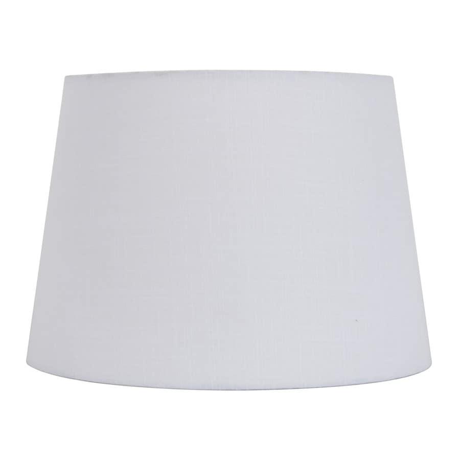 Shop Allen + Roth 11-in X 15-in White Fabric Cone Lamp