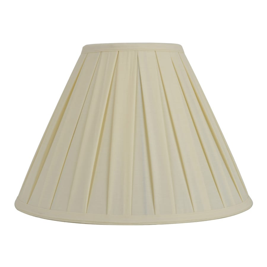 Shop Allen Roth 12 5 In X 17 In Cream Fabric Cone Lamp