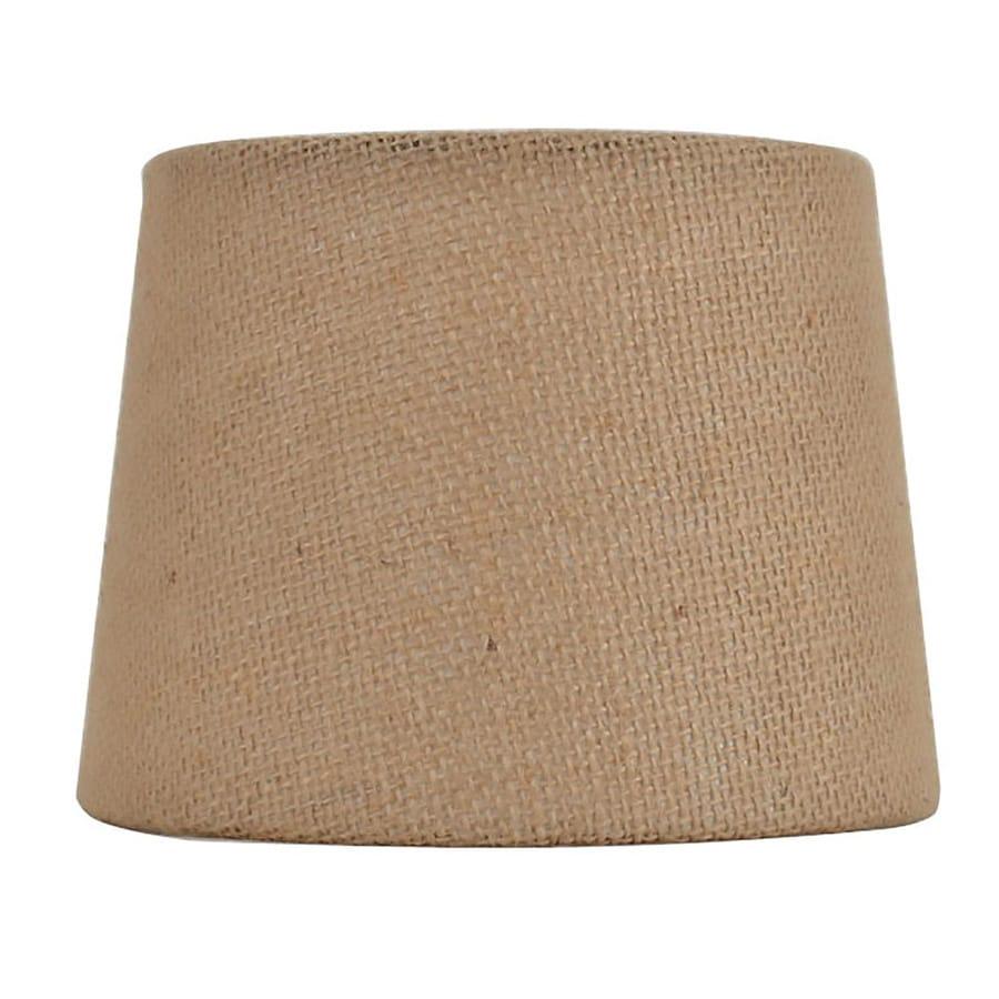 Shop Allen + Roth 4.5-in X 6-in Tan Burlap Fabric Drum