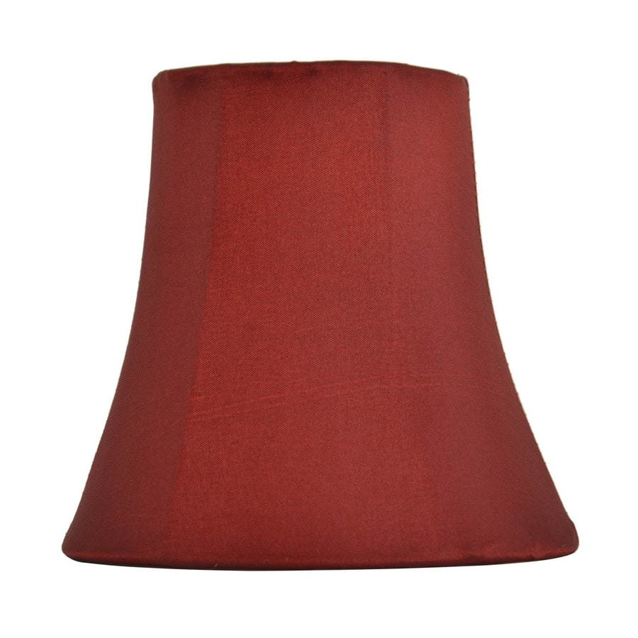 Shop Allen Roth 5 In X 5 25 In Red Fabric Bell Lamp