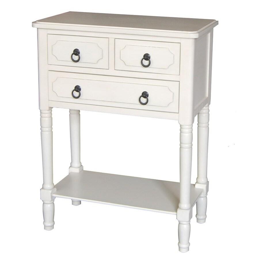 Shop Antique White Pine Accent Table Set at Lowes.com