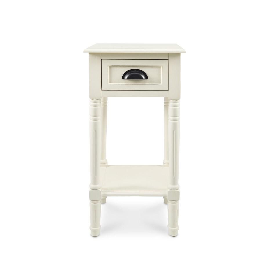Antique White Oak Accent Table Set