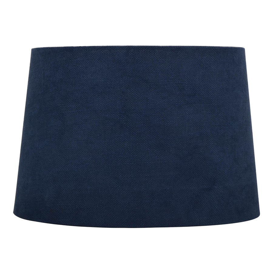 allen + roth 10-in x 15-in Blue Fabric Drum Lamp Shade