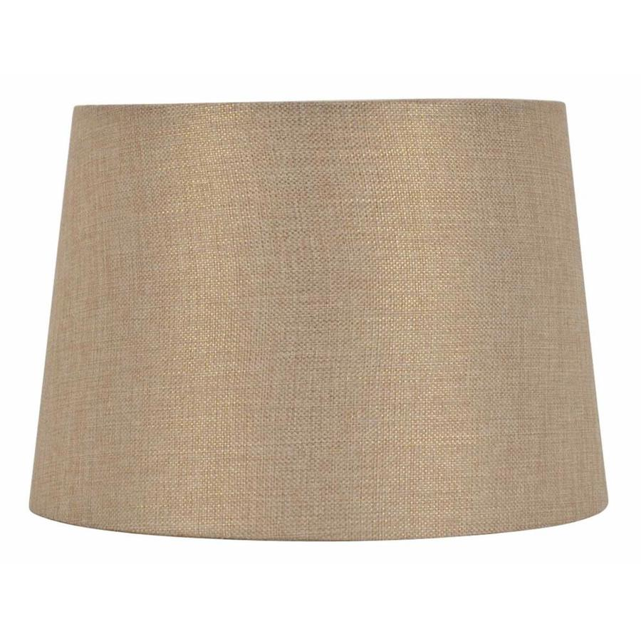 Shop Allen Roth 9 In X 13 In Gold Fabric Drum Lamp Shade