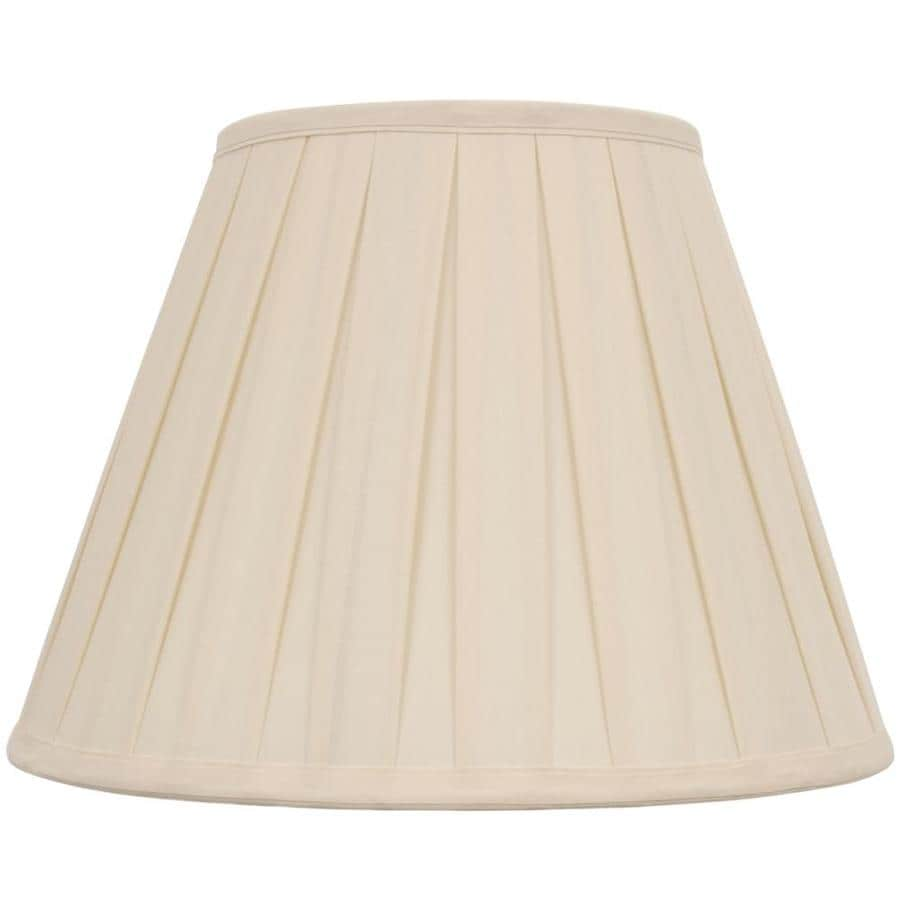 Shop Allen + Roth 11-in X 15-in Cream Fabric Bell Lamp