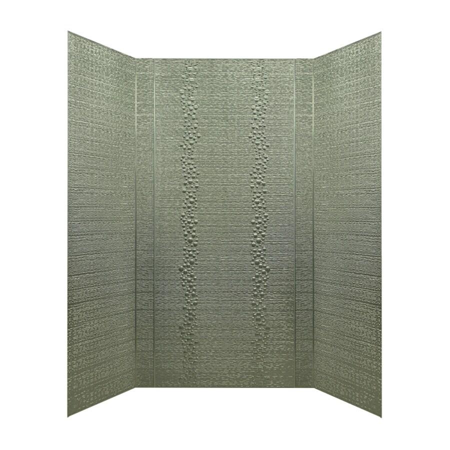 MirroFlex Cascade Galvanized Fiberglass and Plastic Composite Bathtub Wall Surround (Common: 40-in x 60-in; Actual: 96-in x 40-in x 60-in)