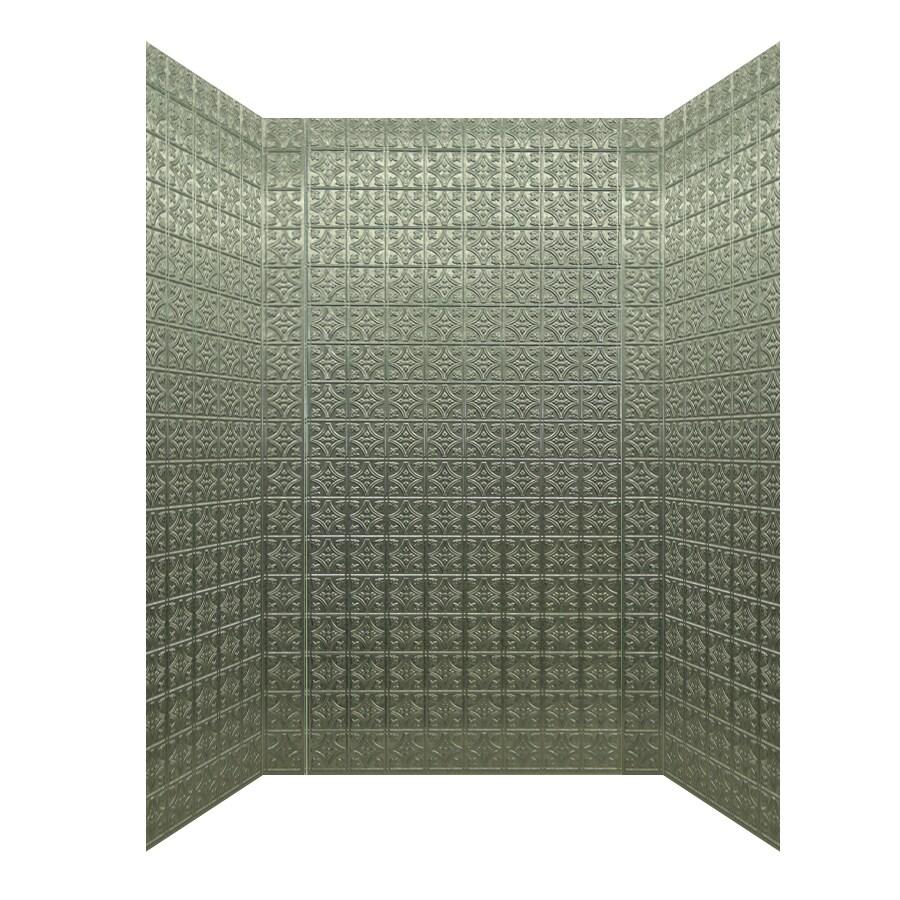 MirroFlex Savannah Galvanized Fiberglass and Plastic Composite Bathtub Wall Surround (Common: 40-in x 60-in; Actual: 96-in x 40-in x 60-in)