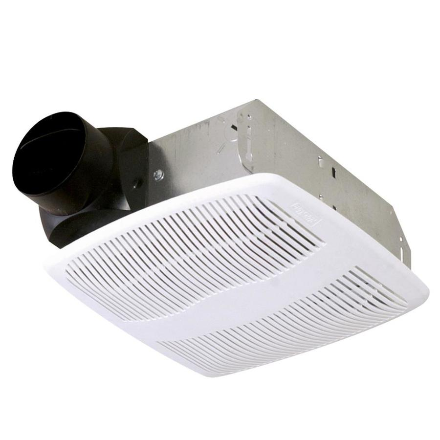 Shop air king 3 sone 50 cfm white bathroom fan at lowescom for Cfm requirements for bathroom fans