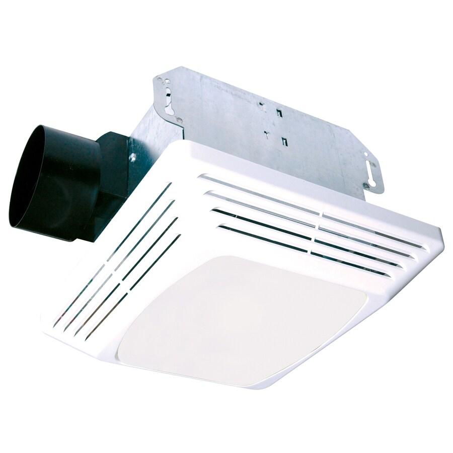 Air King 4-Sone 70-CFM White Bathroom Fan with Light