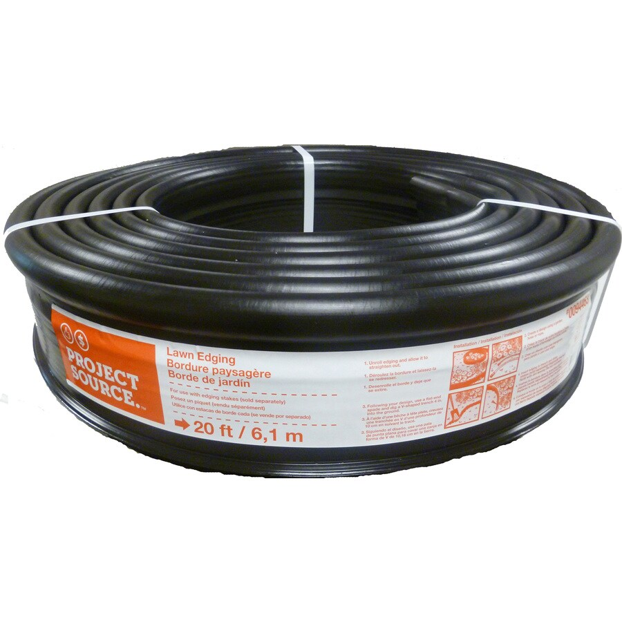 Project Source 20-ft Black Plastic Landscape Edging Roll