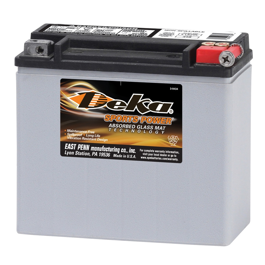 shop deka 12 volt motorcycle battery at. Black Bedroom Furniture Sets. Home Design Ideas