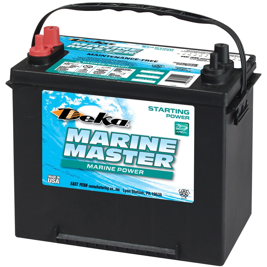 shop deka 12 volt 1 000 marine battery at lowes