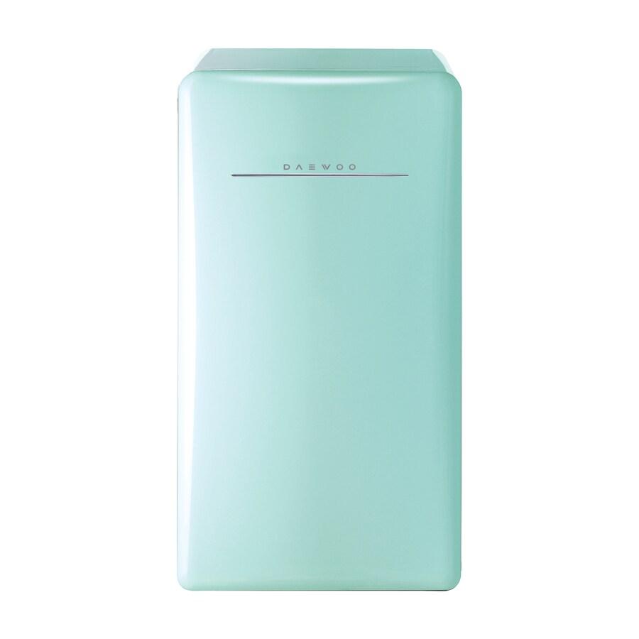Shop Daewoo Retro 4 4 Cu Ft Freestanding Compact Refrigerator Freezer Compartment Mint Green