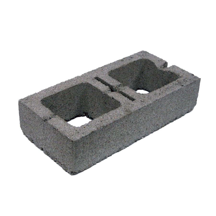 Lightweight Half Concrete Block (Common: 16-in x 4-in x 8-in; Actual: 16-in x 4-in x 8-in)